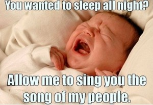 Child causing sleep starvation